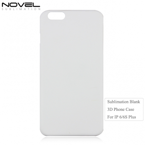 3D Plastic Blank Sublimation Back Phone Cover For iPhone 6 Plus