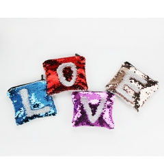 Personaliyt DIY Sublimation Magic Sequin Convenient Coin Purse