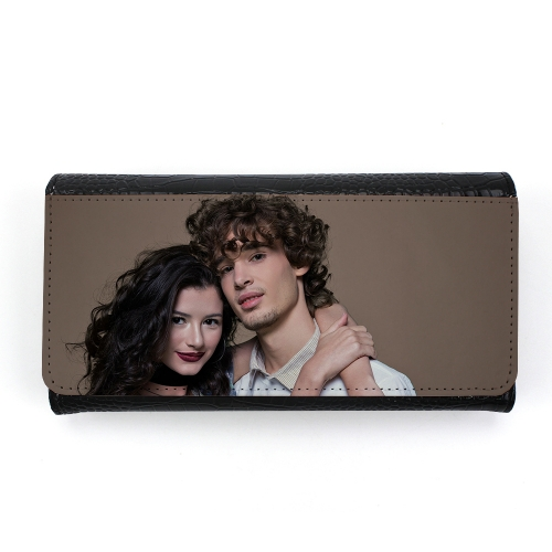 Custom Sublimation Blank Long Lady Crocodile Grain Hand Wallet