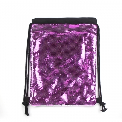 Fashionable Blank Sublimation Magic Sequin Drawstring Backpack With Multiple Colour
