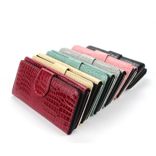 High Quality Sublimation Blank Tri-Fold Crocodile Lady Wallet