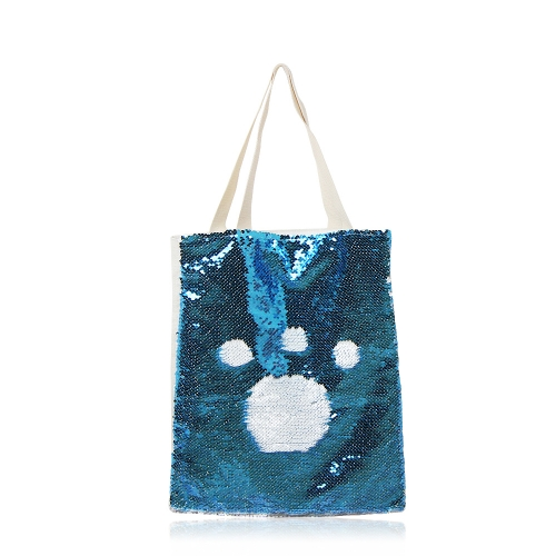 Exquisite Blank Sublimation Magic Sequins Cotton Linen Shopping bags