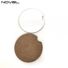 High Quality Sublimation Blank Cheap MDF Round Cork Backed Coaster