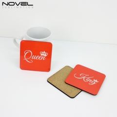 Custom DIY Blank Cheap MDF Cork Backed Coaster