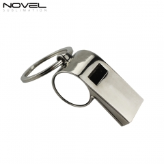 New Sublimation Printing Personality Blank Metal Whistle Keychain