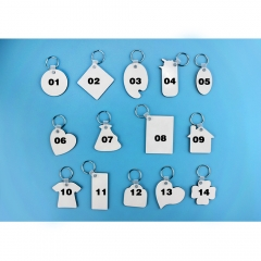 Personality Sublimation Double Side Printing MDF Keychain With 14 Fashioned Type