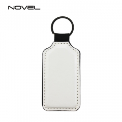 Custom Double Side Sublimation Blank Barrel PU Leather Keychain