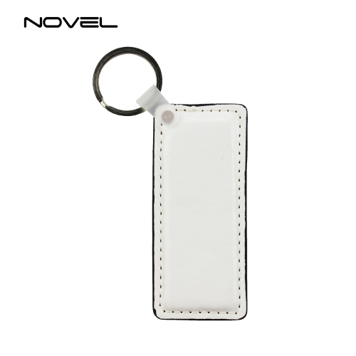 Sublimation DIY Double Side Printing Rectangle PU Leather Keychain