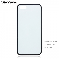 Sublimation Blank 2D TPU Tempered Glass Phone Case for iPhone 5