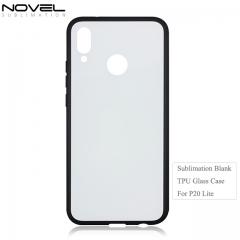 Fashion DIY 2D Tempered TPU Glass Phone Case for Huawei P20 Lite