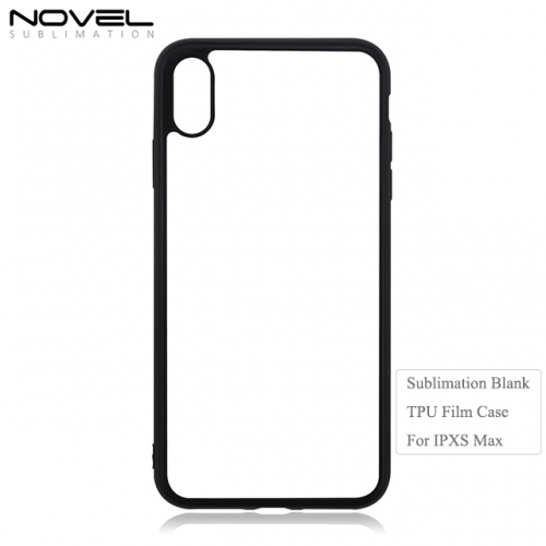 New Sublimation Blank 2D Film Soft Rubber Phone Case For iPhone XS Max