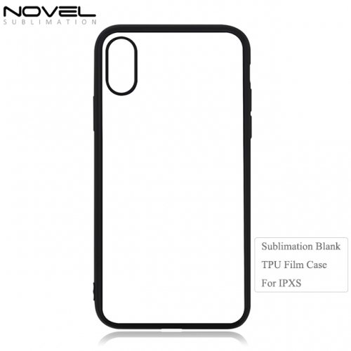 New Sublimation Blank 2D TPU Film Soft Phone Case For iPhone XS