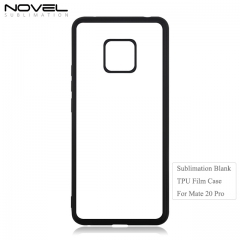 Personality 2D Soft Rubber Blank Film Back Phone Cover For Huawei Mate 20 Pro