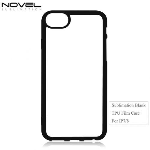 Comfortable 2D Soft Rubber Blank Film Phone Case For iPhone 7