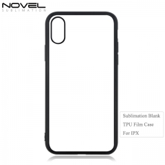 High Quality 2D TPU Blank Soft Film Phone Case For iPhone X