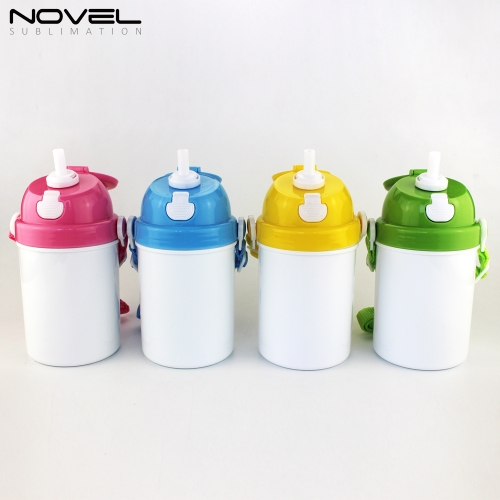 Custom Sublimation Blank 3D Printing 400ml Kid Water Bottle
