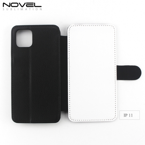 Blank Sublimation TPU PU leather Wallet Case For iPhone 11