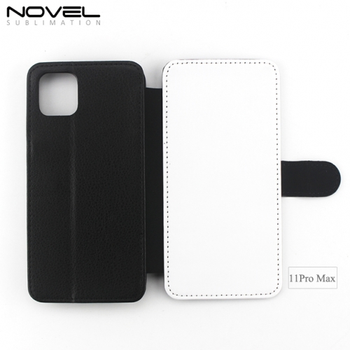 New Arrival Blank Sublimation PU leather Wallet Case For iPhone 11 Pro Max