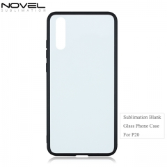 High Quality 2D Tempered TPU Glass Phone Case for Huawei P20