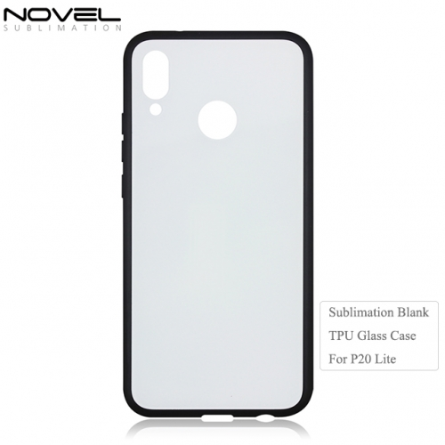 Hot sales 2D Tempered TPU Glass Phone Case for Huawei P20 Pro