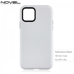 Custom Blank Sublimation 3D 2IN1 Phone Case For iPhone 11 Pro