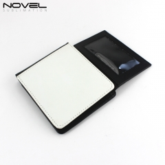 Customized Sublimation Man Bi-Fold Wallet With Extra Card Slot For Photo