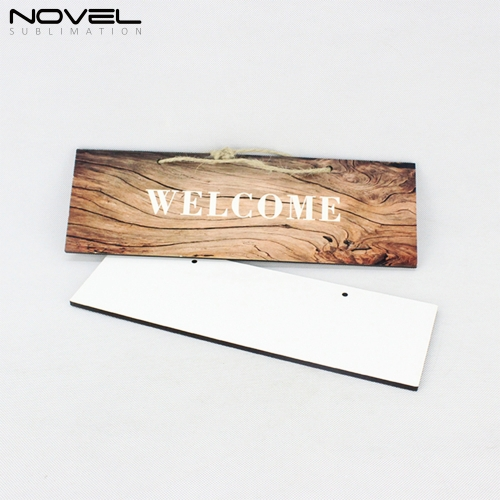 Custom Design Blank Sublimation Rectangle Door Hanging Board