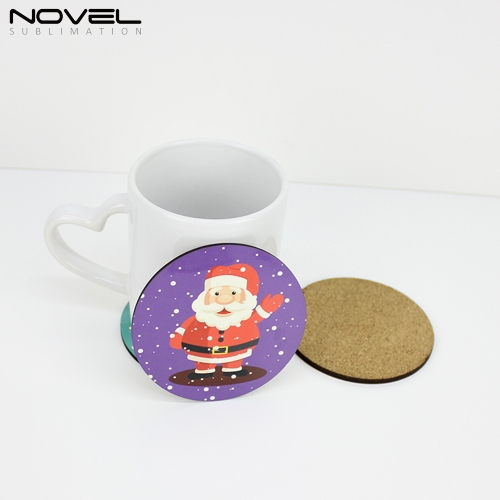 Custom Design Blank Sublimation Round MDF Coaster