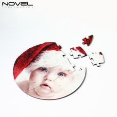 Custom Design Blank Sublimation MDF Round Puzzles