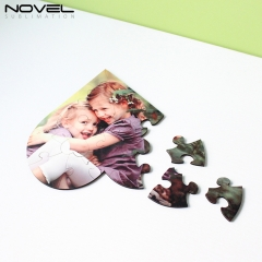 Personality DIY Print Blank Sublimation MDF Heart Puzzles