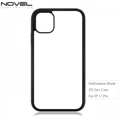Durable Double Sublimation Blank 2d 2in1 Phone Case For iPhone 11 Pro