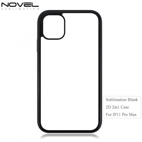 Sublimation Blank DIY 2d 2in1 Phone Case For iPhone 11 Pro Max