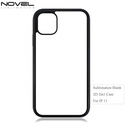 High Quality Durable Sublimation Blank 2d 2in1 Phone Case For iPhone 11