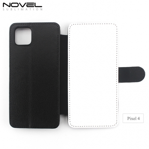 High Quality Blank Sublimation PU Leather Flip Case For Google Pixel 4