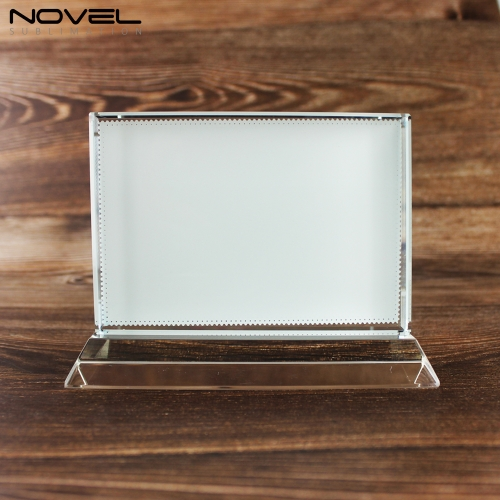 Sublimation Coating Blank Crystal Horizontal Rectangle, Horizontal T Shaped Wedding Gift Crystal