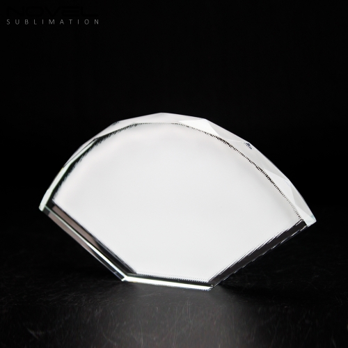 Sublimation Coating Blank Crystal Fan-Shaped,Wedding Gift Crystal
