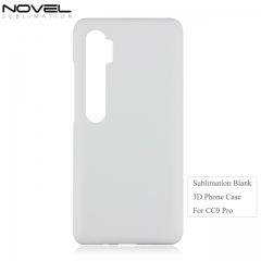 New Arrival 3D Blank Sublimation PC Phone Case For Xiaomi CC9 Pro