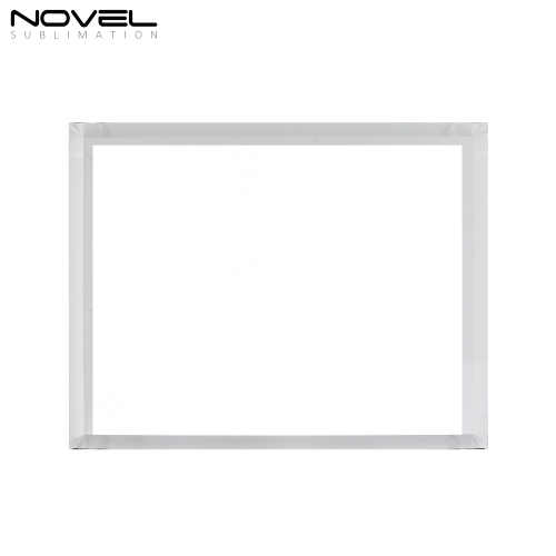 Custom Design Sublimation Blank 8'' Fillet Crystal Glass Photo Frame For Decoration