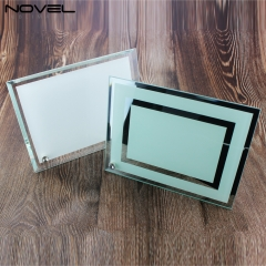 DIY Sublimation Blank 8'' Double Mirror Glass Photo Frame