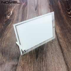 Custom Sublimation Blank 6'' Bevel Edge Crystal Photo Frame