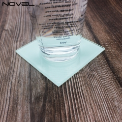 Diy Pattern Sublimation Blank Glass Insulation Coaster