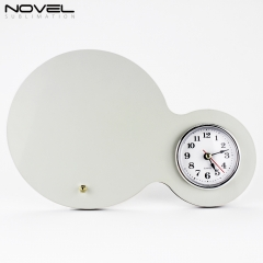 Personality Sublimation Blank Custom Printing Round MDF Clock Photo Panel