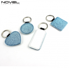 New Fashion Bling Bling Blank Sublimation Pu Leather For Gift