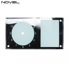 Personality Custom Blank Transparent 11'' Strip Glass Clock Photo Frame