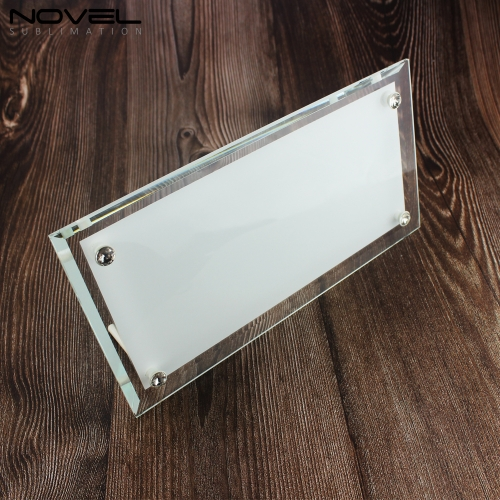 Hot Sales Blank Sublimation 12'' Strip Crystal Glass Photo Frame