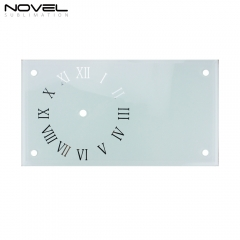 High Quality Sublimation Blank Transparent 12'' Rectangle Glass Clock