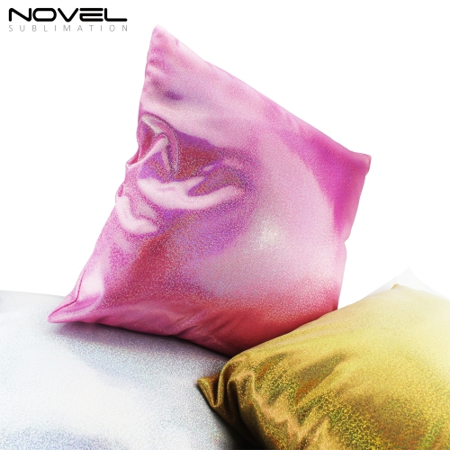 Newly Custom Printing Blank Sublimation Shiny Pillow Cover