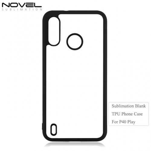 New 2D Soft Rubber Sublimation Blank Phone Case For Moto P40 Play