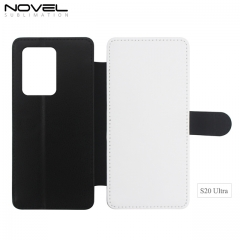 New Sublimation Blank 2D PU Leather PC Case For Galaxy S20 Ultra