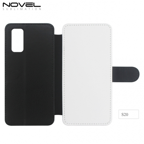 Custom Sublimation Blank 2D PU Leather PC Case For Galaxy S20